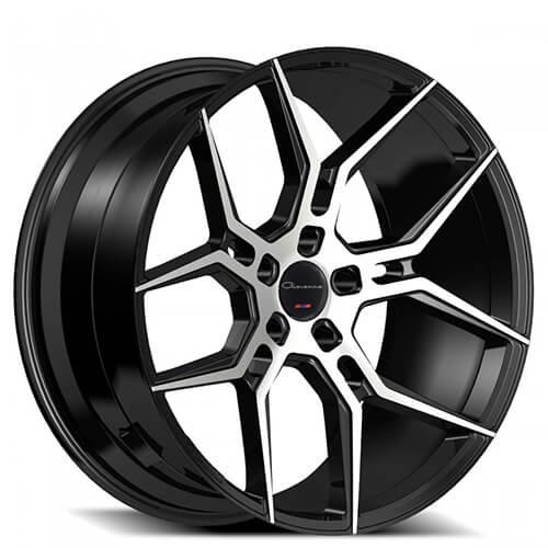 "24"" Giovanna Wheels Haleb Black Machined Rims (5x120, ET+30mm)"