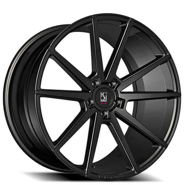 "22"" Koko Kuture Wheels Le Mans Black Rims #KK002-3"