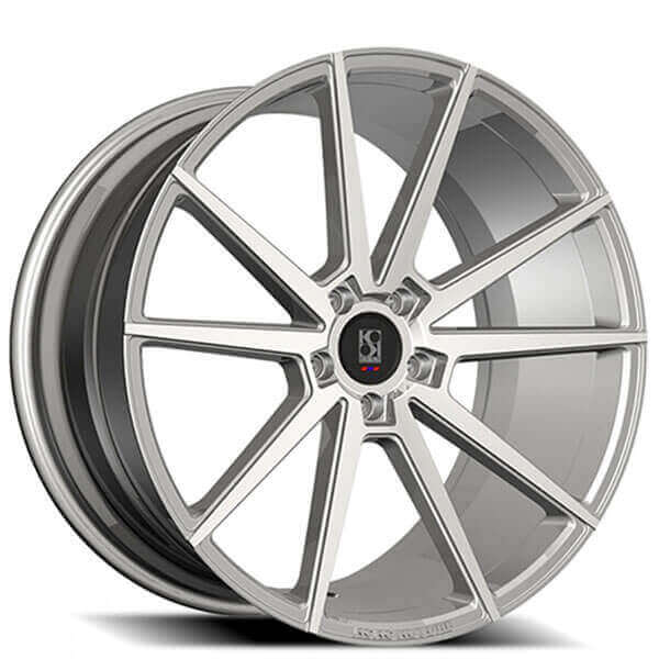 """20"""" Staggered Koko Kuture Wheels Le Mans Silver Machined"""