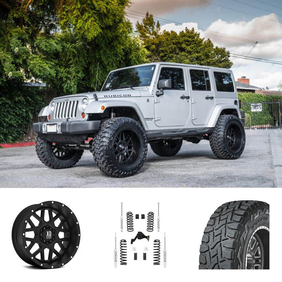 "07-18 Jeep Wrangler 22x12"" Wheels + Tires + Suspension"
