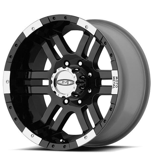"17"" Moto Metal Wheels MO951 Gloss Black Machined Off-Road Rims"