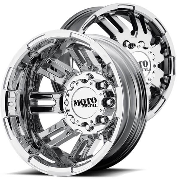 "17"" Moto Metal Wheels MO963 Dually Chrome Off-Road Rims # ..."