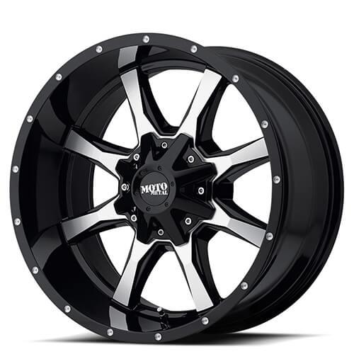 "16"" 17"" 18"" 20"" Moto Metal Wheels MO970 Black W Machined Face Rims"