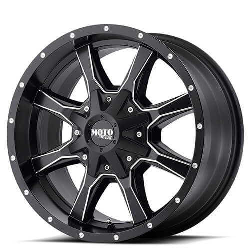 "16"" 17"" 18"" 20"" Moto Metal Wheels MO970 Black Rims"