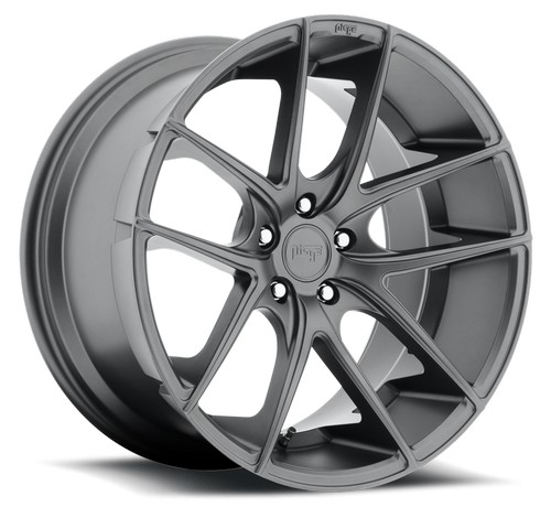 "19"" Staggered Niche Wheels M129 Targa Anthracite Rims #NC018-4"