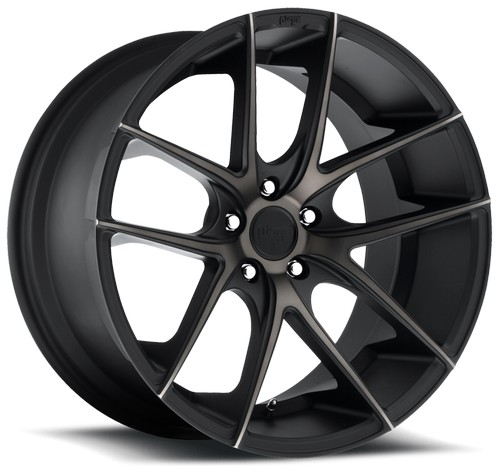 "17"" 18"" 19"" 20"" 22"" Niche Wheels M130 Targa Black Machined Rims *Free Shipping"