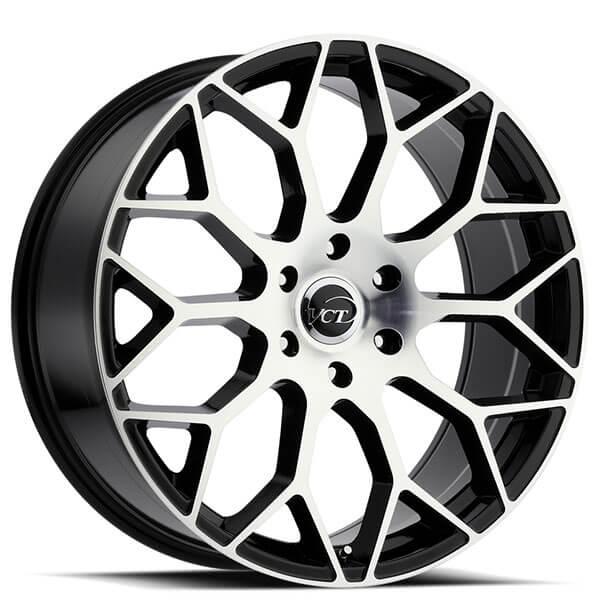 24 Vct Wheels V82 Black Machined Face Rims Vct106 4