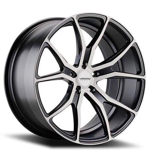"19"" 20"" 21"" 22"" Varro Wheels VD01 Black W Machined Face Rims"