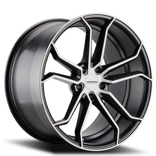 "19"" 20"" 22"" Varro Wheels VD02 Gloss Black W Brushed Face Rims"