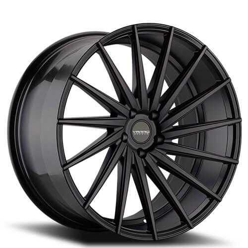 "22"" Staggered Varro Wheels VD15 Satin Black Rims (5x120, ET +20mm/38mm)"