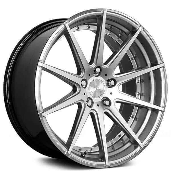 1 35 Matte Silver//Machined Wheel 20x9 Verde Parallax 5x120