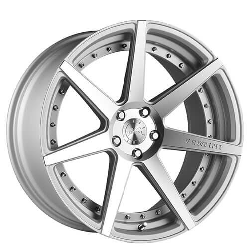 "19"" 20"" 22"" Vertini Wheels Dynasty Matte Silver Machined Rims *Free Shipping"