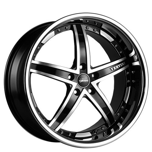 "19"" 20"" Vertini Wheels Fairlady Black Machined Rims *Free Shipping"