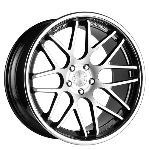 "19"" 20"" 22"" Vertini Wheels Magic Black Machined Deep Concave Rims *Free Shipping"