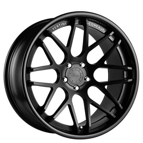 "19"" 20"" 22"" Vertini Wheels Magic Matte Black Deep Concave Rims *Free Shipping"