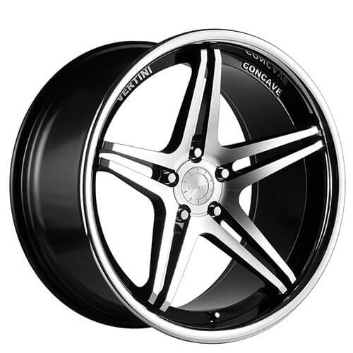 "19"" 20"" Vertini Wheels Monaco Black Machined Rims *Free Shipping"