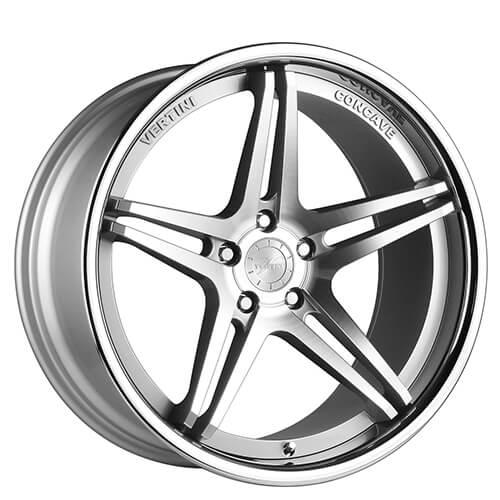 "19"" 20"" Vertini Wheels Monaco Silver Machined Rims *Free Shipping"