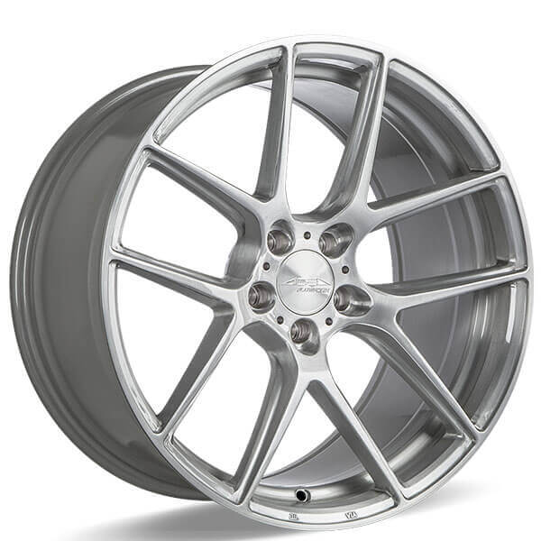 "22"" Ace Alloy Wheels AFF02 Brush With Clear Coat Rims"