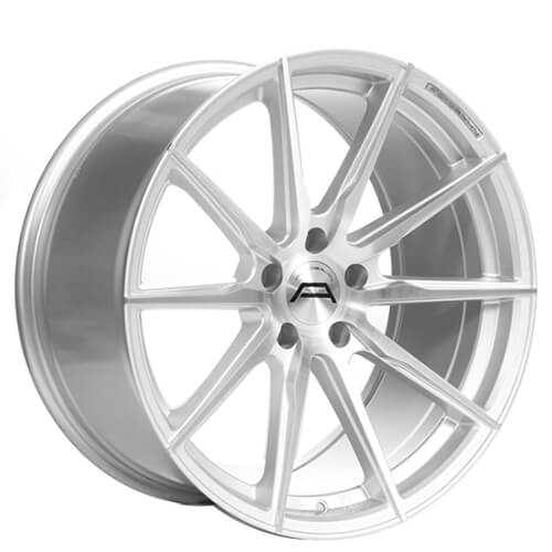 """19"""" Staggered Autobahn Wheels Altenberg Silver Brushed Rims"""