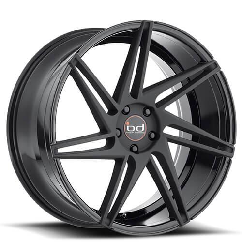 "20"" 22"" Blaque Diamond Wheels BD1 Semi Matte Black Rims"