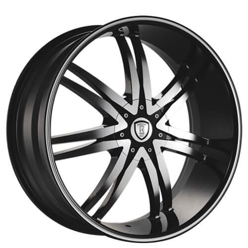 "22"" 24"" 26"" 28"" Borghini Wheels B14 Black Machined Rims"