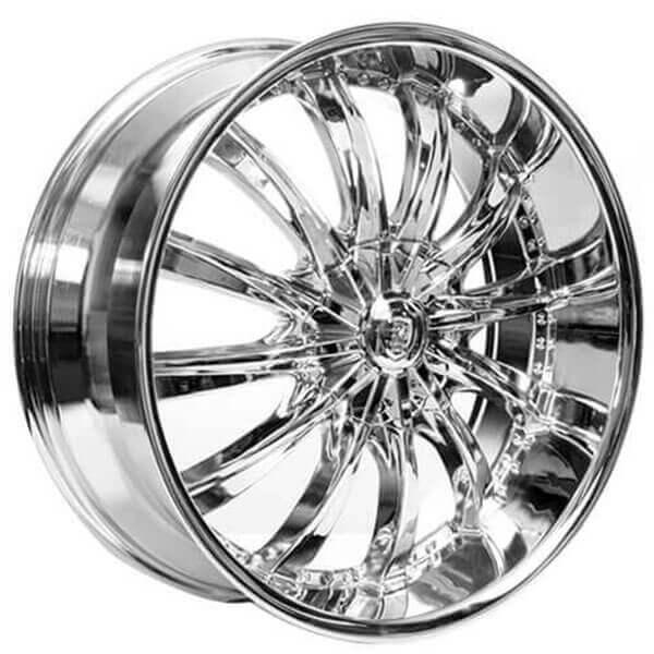 22 Borghini Wheels B19 Chrome Rims Bor016 3