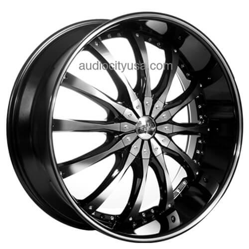"22"" 24"" 26"" 28"" Dcenti Wheels DW8 Black Machined Rims"