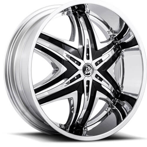 22x8 5 Quot Diablo Wheels Elite Chrome With Black Insert Rims Db031 1