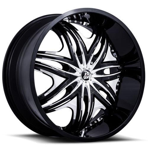 30 Chrome Rims : Quot diablo wheels morpheus black with chrome insert rims