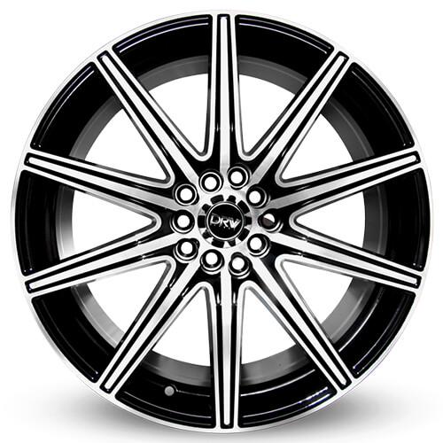 "17"" 18"" DRW Wheels D4 Black Machined Face Rims"