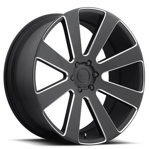 "Black Wheels Dub Alloys: 24"" Dub Wheels 8 Ball S187 Black Milled Rims #DUB007-2"