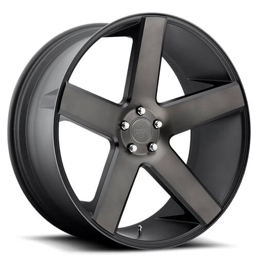 """Black Wheels Dub Alloys: 24"""" Dub Wheels Baller S116 Black With Machined Face And"""