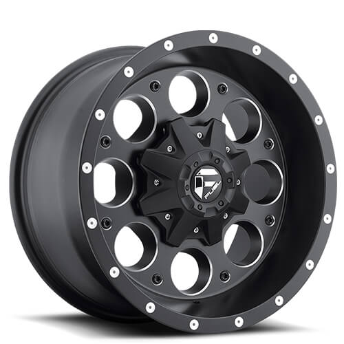 "20"" Fuel Wheels D525 Revolver Matte Black Rims"