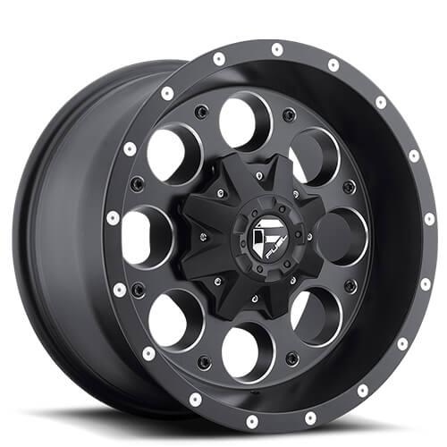 """15"""" 16"""" 17"""" 18"""" 20"""" Fuel Wheels D525 Revolver Matte Black Rims"""