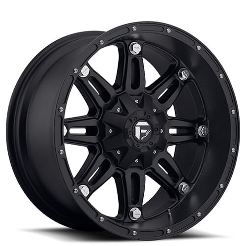 "20"" Fuel Wheels D531 Hostage Matte Black Rims"