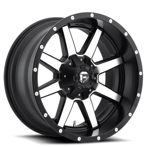 "17"" 18"" 20"" 22"" Fuel Wheels D537 Maverick Black Machined Rims"