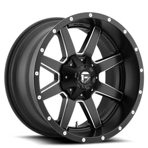 """14"""" 16"""" 17"""" 18"""" 20"""" 22"""" Fuel Wheels D538 Maverick Black Rims"""