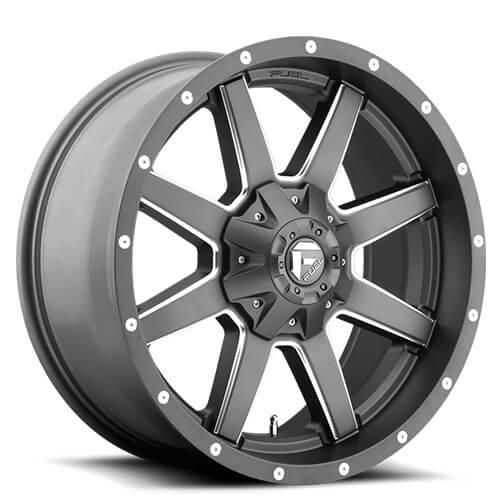 """20"""" Fuel Wheels D542 Maverick Gun Metal Rims"""