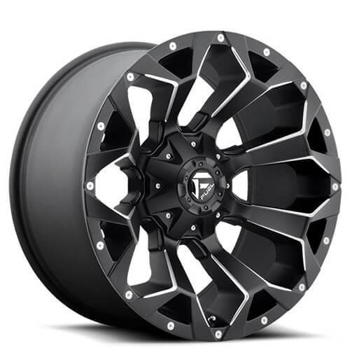 """17"""" 18"""" 20"""" 22"""" Fuel Wheels D546 Assault Black Rims"""