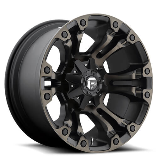 "20"" Fuel Wheels D569 Vapor Black Machined Rims"