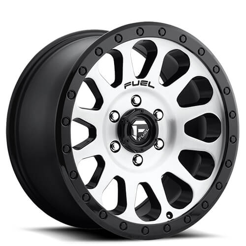 "20"" Fuel Wheels D580 Vector Black Brushed Rims"