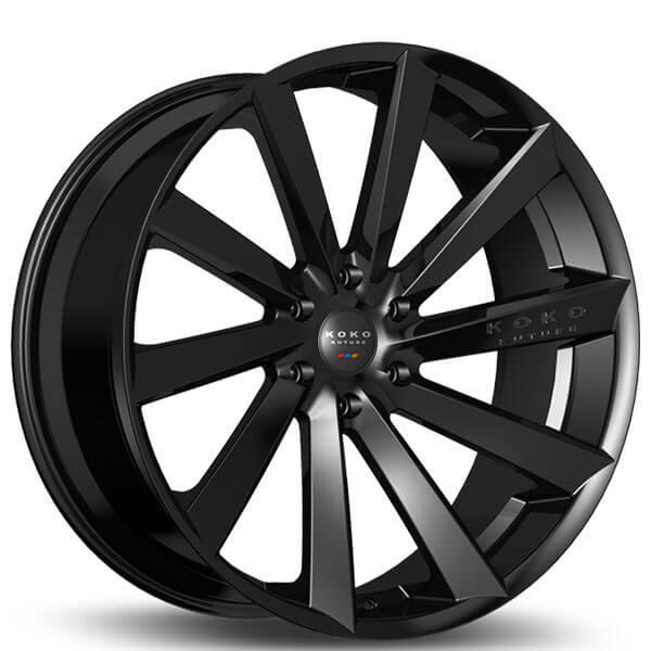 24 Koko Kuture Wheels Kapan Gloss Black Rims Kk027 5