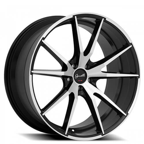 "20"" 22"" Giovanna-Gianelle Wheels Davalu Black Machined Rims (Reg $1139)"