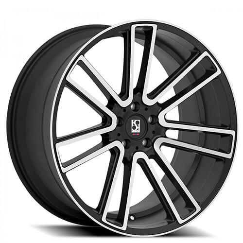 "22"" Staggered Giovanna-Koko kuture Wheels Massa-7 Black Machined Rims"