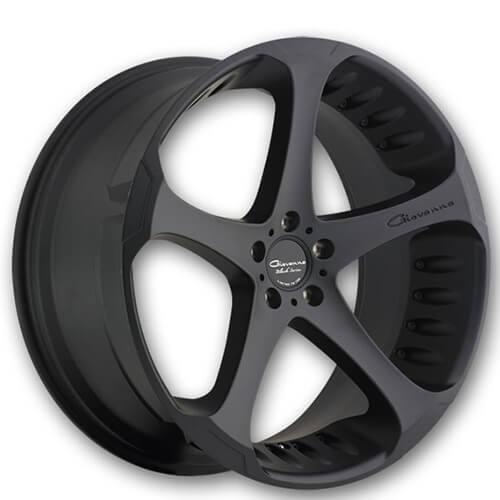 "22x9"" / 10.5"" Giovanna Wheels Dalar5 Black Rims Only 2 Set Left (Reg $1639)"