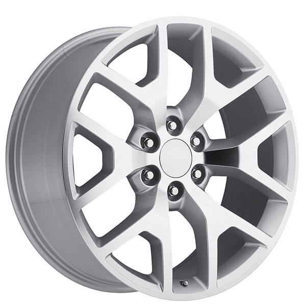 "22"" 2014 GMC Sierra Wheels Silver Machine OEM Replica Rims ..."