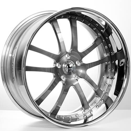 "19""20""22""24"" AC Forged Wheels Rims 312 Gunmetal face w/Chrome Lip 3 piece"