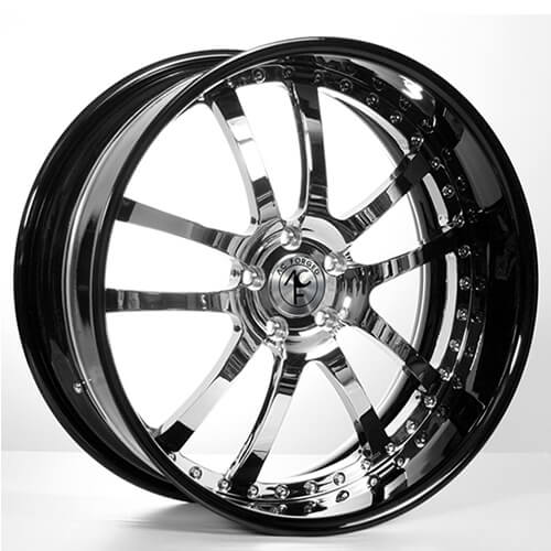 "19""20""22""24"" AC Forged Wheels Rims 312 Chrome face w/Black Lip 3 piece"