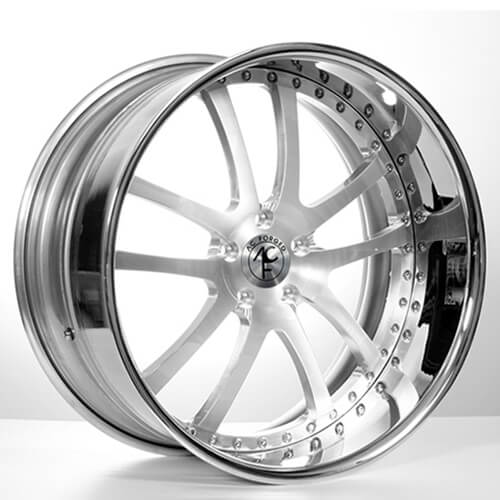 "19""20""22""24"" AC Forged Wheels Rims 312 ST Brush face w//Chrome Lip 3 piece"