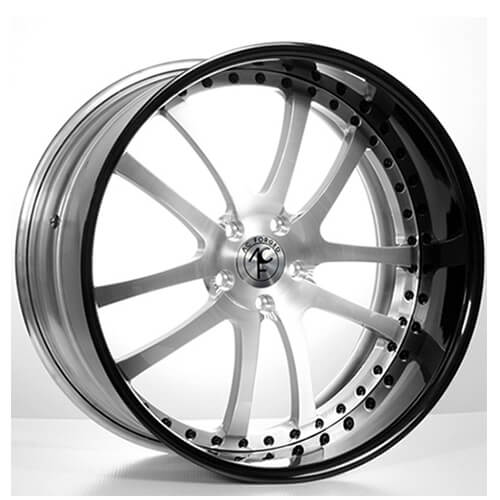 "19""20""22""24"" AC Forged Wheels Rims 312 Brush face w/Black Lip 3 piece"